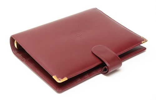 Cartier Burgundy Leather Agenda Cover / Binder