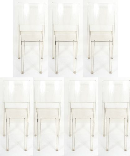 """Starck for Kartell """"La Marie"""" Acrylic Chairs, 7"""