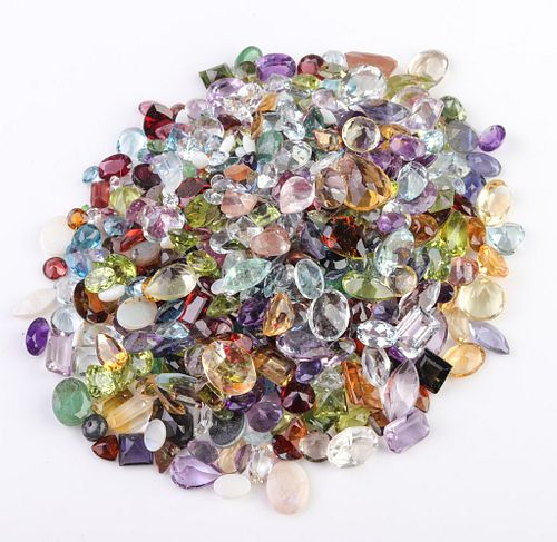 250 cttw. Loose Mixed-Cut Multicolored Gemstones
