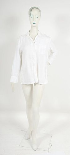 Serena & Lily Long-Sleeve Linen Shirt Sleepwear