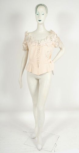 Serafina Silk & Sheer Floral Fitted Top