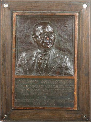 Abraham Gratenstein Bronze Memorial Plaque
