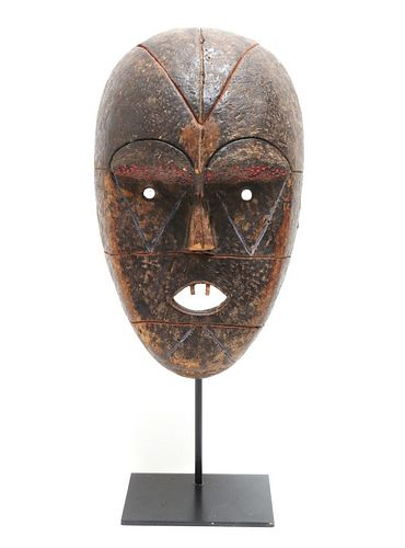 African Carved Wood & Beaded Ceremonial Mask