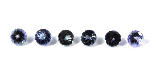4.10 cttw. Loose  Round-Cut Tanzanite Stones, 6