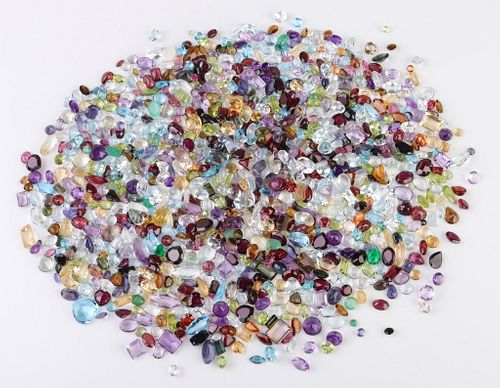 502 cttw. Loose Mixed-Cut Multicolored Gemstones