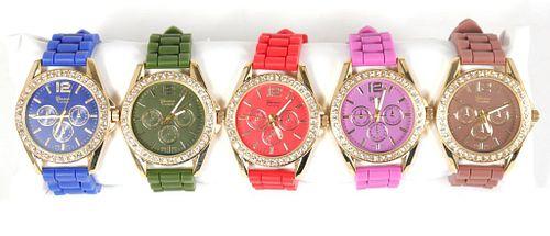 Geneva Platinum Colorful Watch Set, Group of 5