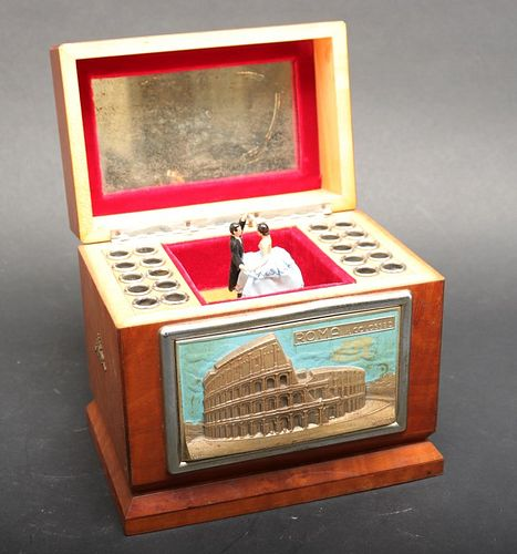 Vintage Italian Music Box Cigarette Dispenser