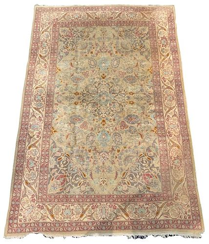 "Floral Persian Carpet, 7' 2"" x 4' 8"""