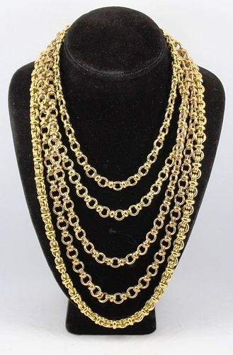 Designer Costume Gold-Tone Chain Necklaces, 3