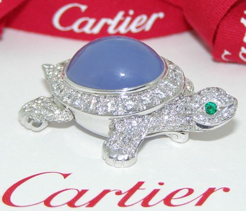 Cartier Diamond Chalcedony Turtle Retail $40,000