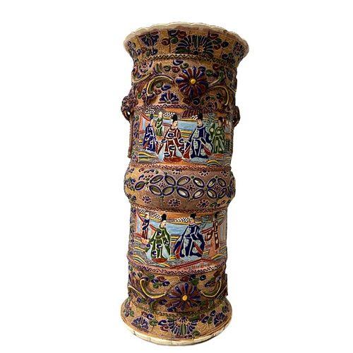 An Early Japanese Porcelain Umbrella Holder
