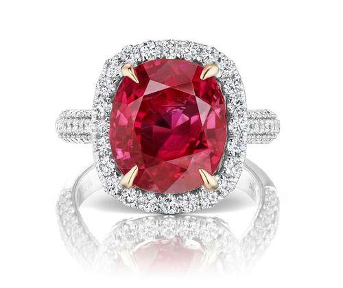 10.50ct NO-HEAT BURMA Ruby And 1.60ct Diamond Ring