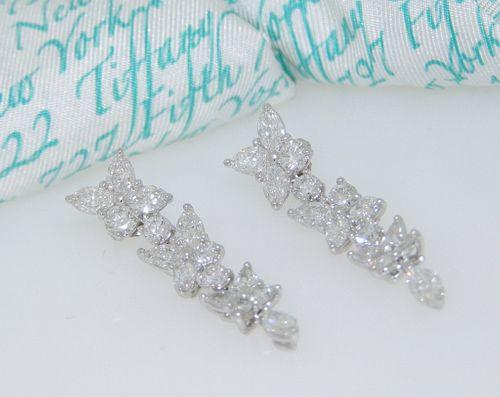Tiffany & Co 4.25ct Drop Earrings Retail $41,000+