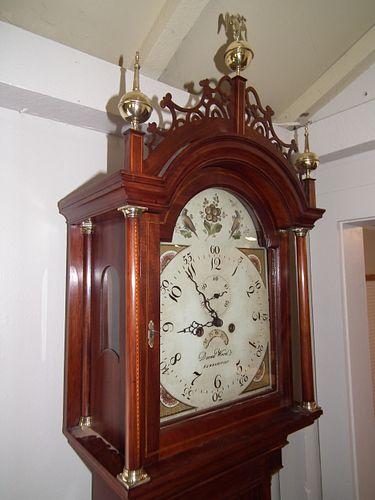 CA 1800 DAVID WOOD TALL CLOCK