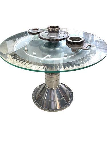 RARE C1 HUB WITH C10 TURBINE MODERN TABLE