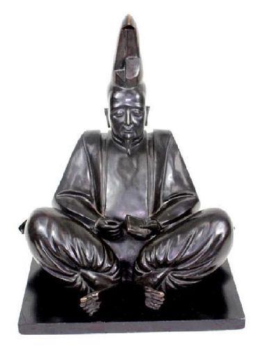 Japanese Bronze Shogun Figure. Large. Good conditi