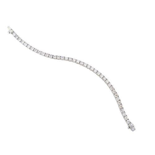 10.02ct Round Brilliant Diamond Tennis Bracelet