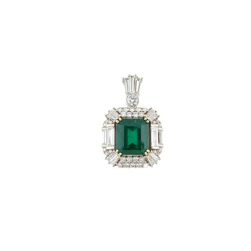 GIA Certified Colombian Emerald And Diamond