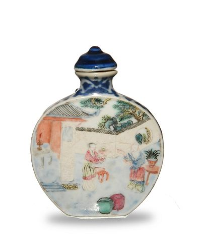 Chinese Famille Rose Snuff Bottle, Qianlong