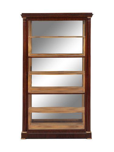 A Biedermeier Mahogany Vitrine Cabinet