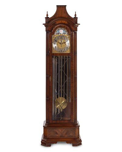A Herschede Mahogany Tall Case Clock