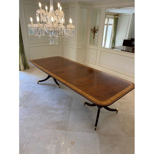 Baker Furniture Sheraton Style Dining Table