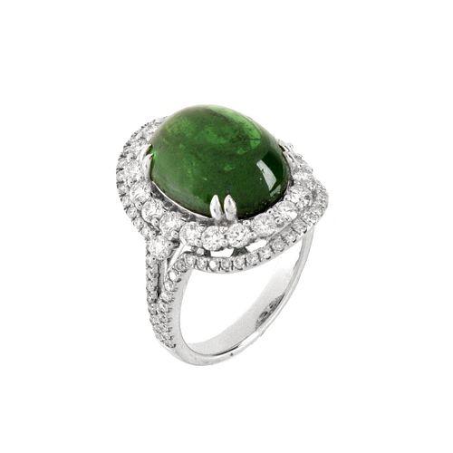 AGL Tsavorite, Diamond and 18K Ring