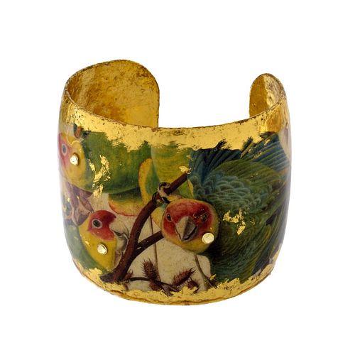 Evocateur Gold Leaf Cuff Bracelet