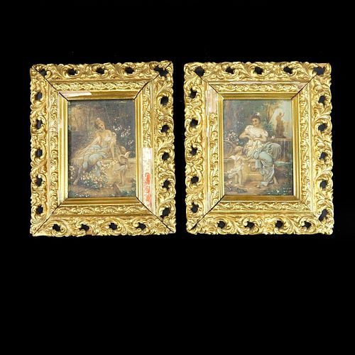 Pair of Antique Miniature Paintings