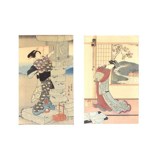 Pair of Japanese Woodblock Prints