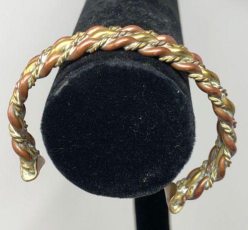Vintage Mixed Metal Men's Cuff Bracelet