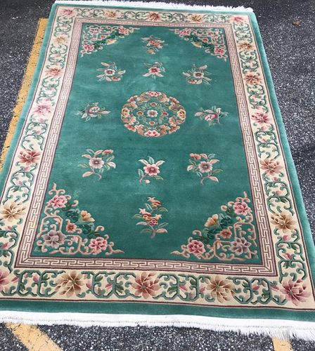 Gorgeous Oriental Chinese Wool Rug W/ Certification