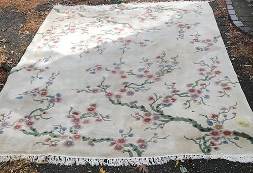 Gorgeous Oriental Chinese Rug With Certification