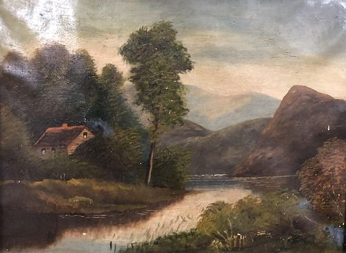 Antique Landscape Oil