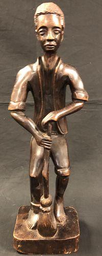 Ulrick Simeon Signed Wood Statue