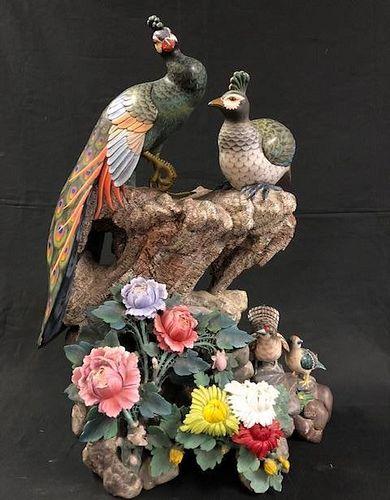 Natural Stone Bird Sculpture
