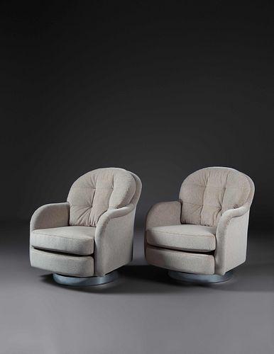 Milo Baughman (American, 1923-2003) Pair of Lounge Chairs,Thayer Coggin, USA