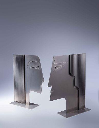 Franz Hagenauer (Austrian, 1906-1986) Pair of Male and Female Heads