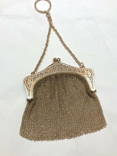 Pretty Small 9K Gold  Mesh Change Purse 62gr