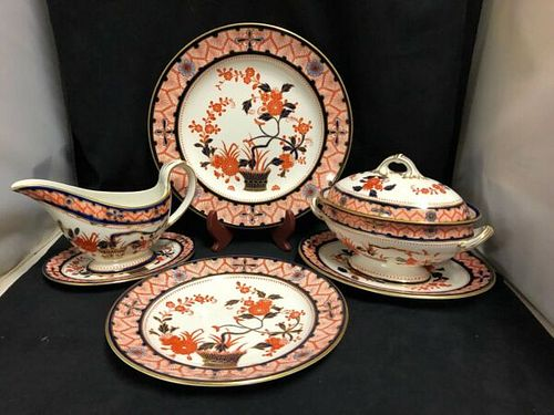 LARGE- 86 pieces- ROYAL CROWN DERBY DINNER SET CHANDOS - 1883
