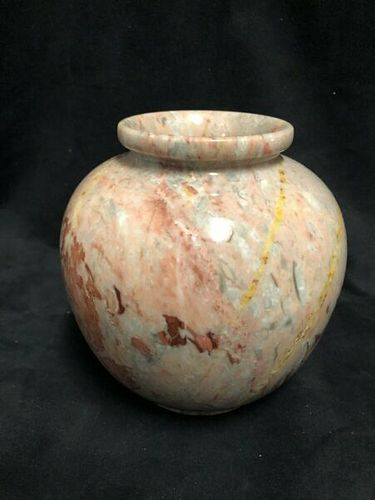 Pretty Pink Marble Vase