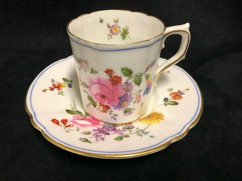 "Royal Crown Derby Porcelain"" Posies"" Demi Tasse and saucer- England"