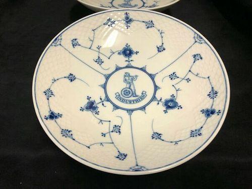 2 Royal Copenhagen (B&G) Denmark Fine Porcelain serving footed dishes B&W Lace