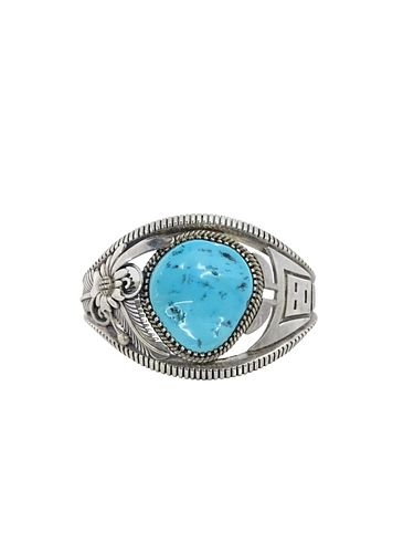 Native American Sterling Silver And Turquoise