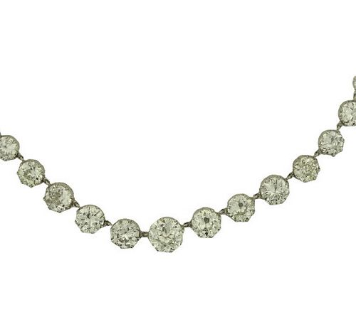 42.07ct European Cut Diamond Necklace