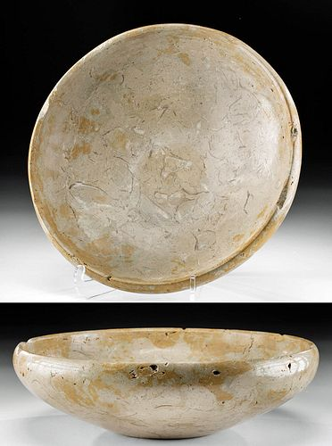 Egyptian Early Dynastic Breccia Bowl w/ Art Loss Cert.