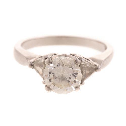 An Impressive 1.40 ct Diamond Ring in Platinum