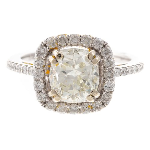 A Classic 2.01 ct Diamond Ring in 14K