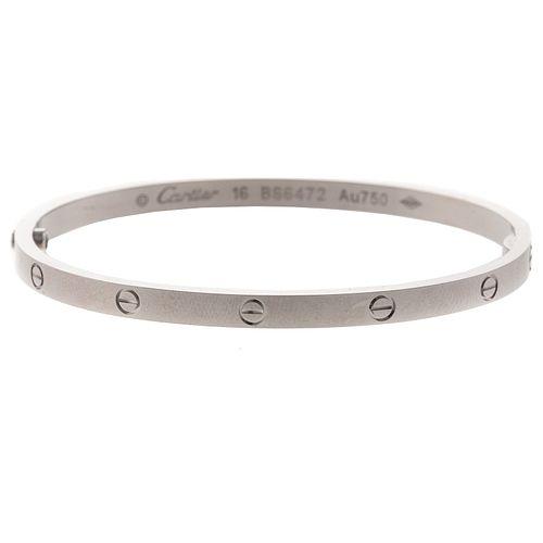 A Cartier Love Bracelet in 18K White Size 16