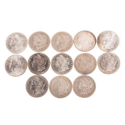 Complete Set of 13 Carson City Morgan Dollars